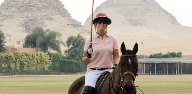 Playing Polo in Egypt