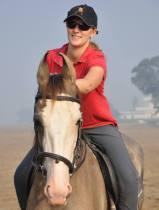 Riding Marwari horses while working in India