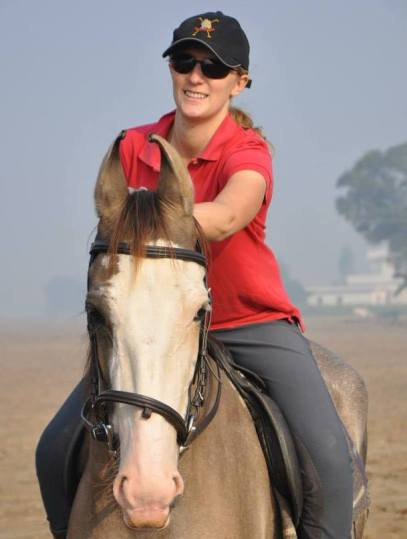 Riding Marwari horses while working in India