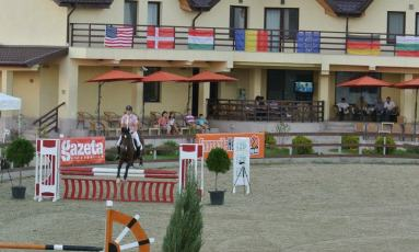 FEI Competition in Romania riding for the USA