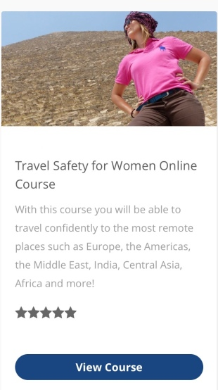 Travel Safety for Women Online Course