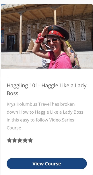 Haggling 101 - Haggle Like a Local Online Course
