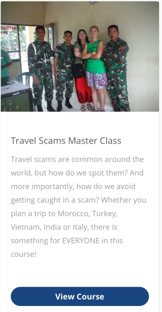 Travel Scams Master Class Online Course