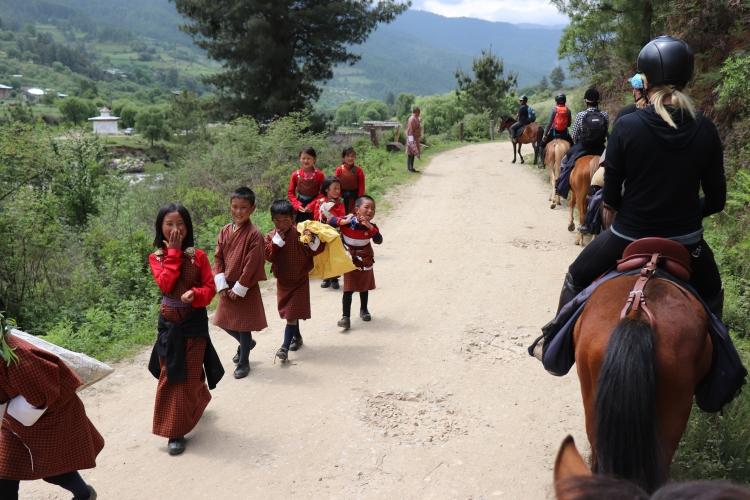 Riding Horses in Bhutan