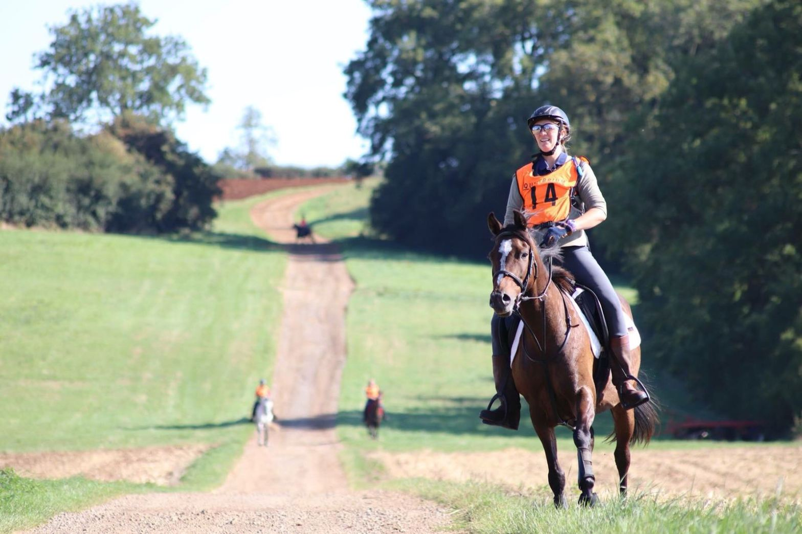 Krystal is riding her part-Arabian pony in an endurance ride in England
