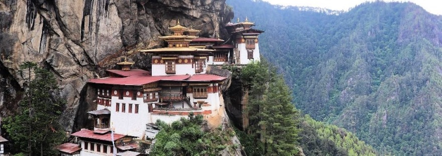 The Tiger's Nest Temple built on a steep cliff