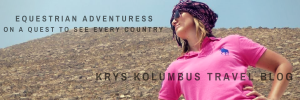 Logo for Krys Kolumbus Travel, Krystal's travel blog with stories and travel advice