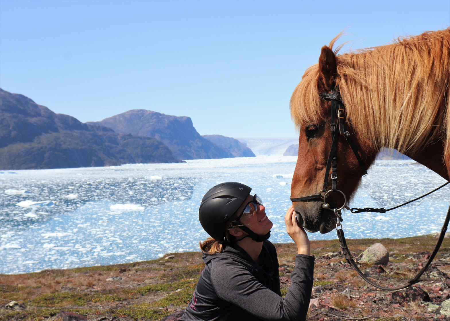 "Krystal is ""speaking"" to Charlie, an Icelandic Horse in Greenland. Krystal's experience enables her to communicate with horses anywhere in the world. And the best thing is - you can learn it, too!"